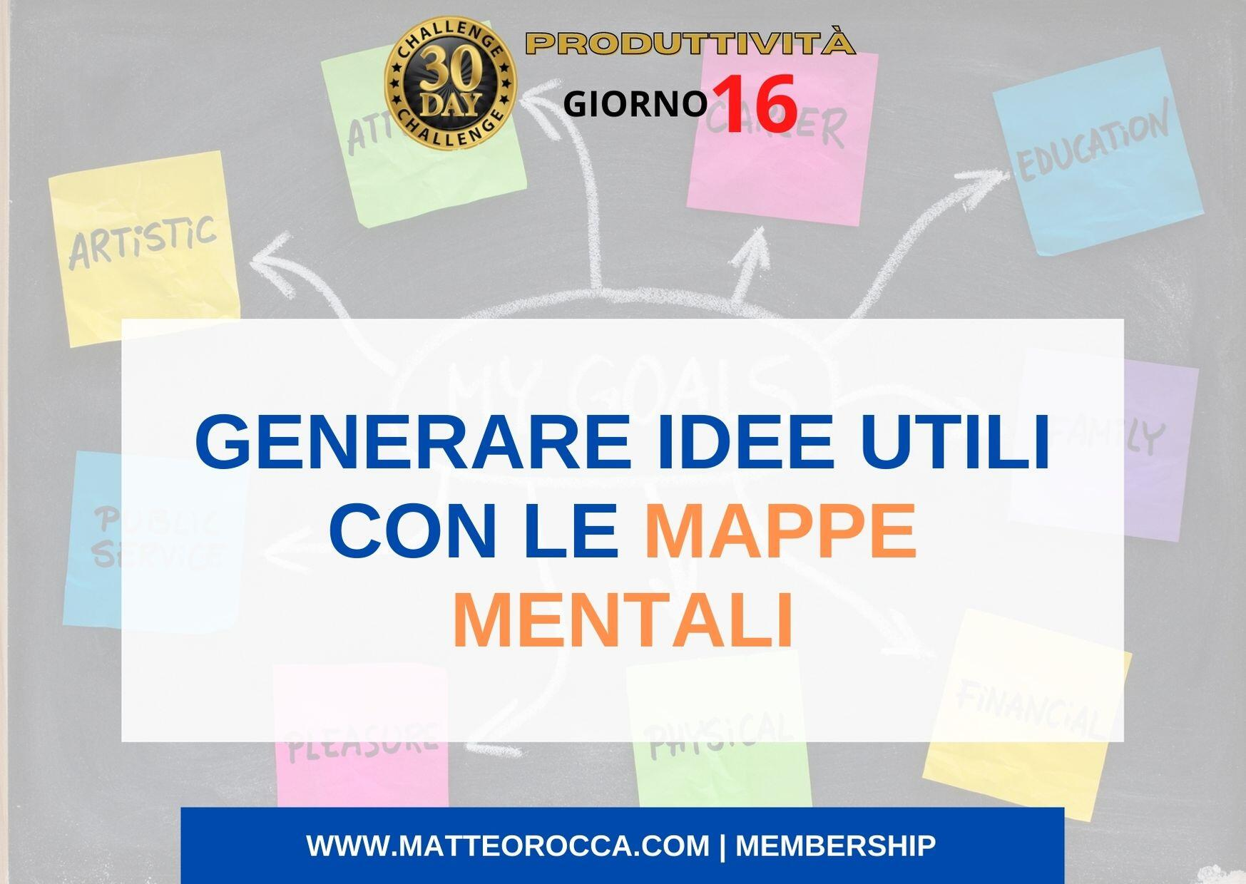 Come generare idee utili con le mappe mentali (titoli)
