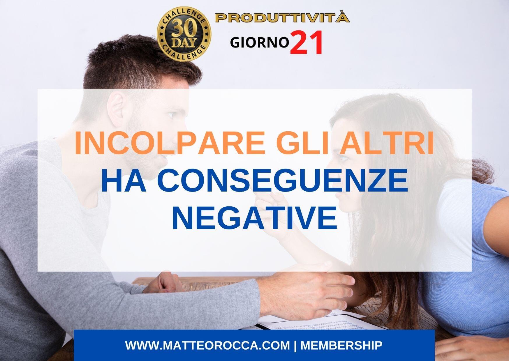 incolpare gli altri ha conseguenze negative (titolo)