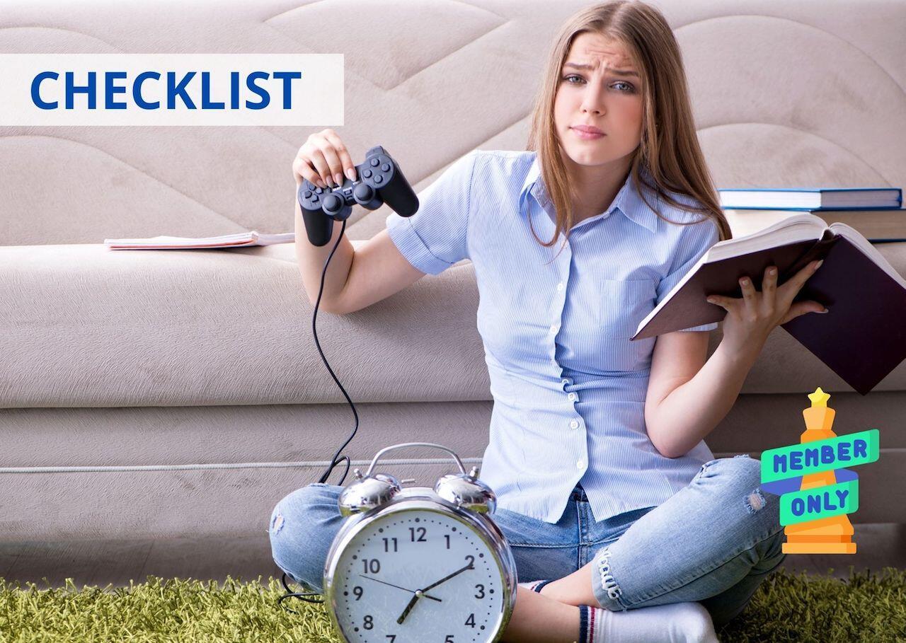 checklist attività perditempo e distrazioni
