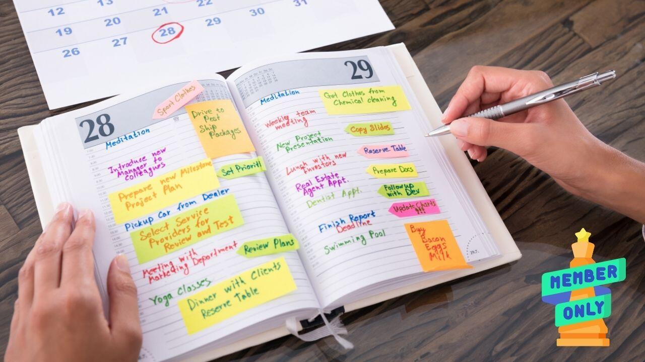 la corretta gestione dell'agenda
